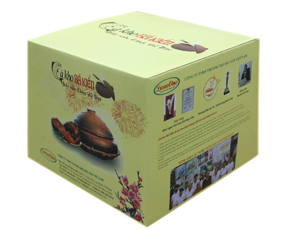 Cá kho Bá Kiến được đóng hộp đẹp mắt để phục vụ người tiêu dùng